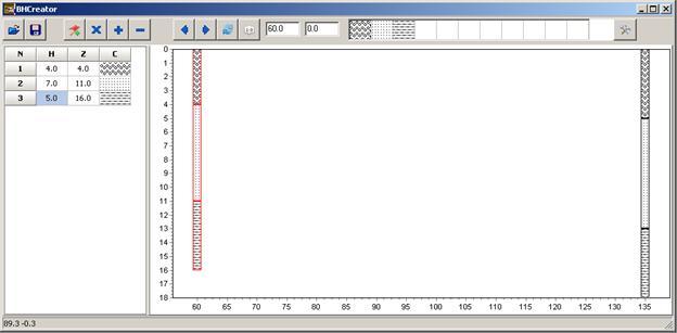 Screenshot of the BHEditor ZOND software