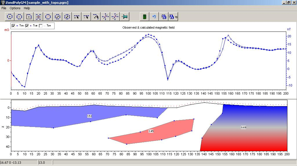 Screenshot of the ZondPGM Software